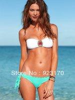 Free Shipping Hot Crystal Mosaic Swimsuits Swimwear For Women Beachwear Beach Halter For Women Swim Wear Bandage Swimsuit Y-035