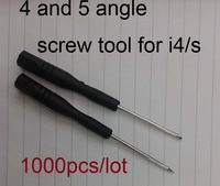 1000pcs/lot free ship dhl, REPAIR OPENING TOOL SCREW DRIVER  FOR Apple for iPHONE 4 4Gs MOBILE Phone 5 angle 4angle