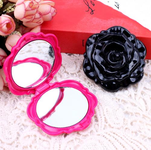 2014 Anna S flower series Circle Compact Mirror/Portable pocket Makeup Mirror Free Shipping(China (Mainland))