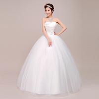 2013 bridal wedding qi beautiful princess wedding dress bandage wedding dress flower wedding dress tube top