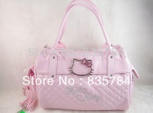hello kitty bags HelloKitty for Women Girl Shoulder Bag Purse Handbag Tote Shining Gift white pink Bag Children 1pcs(China (Mainland))