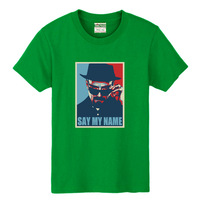 2014 New Fashion Breaking bad T-shirt 100% loose short-sleeve cotton lovers