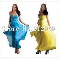 Free Shipping Chiffon Prom Dress floor length long Prom Dresses SLD78550