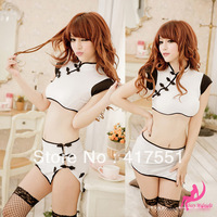 NEW Exotic Apparel WOMEN Costumes CHEONG SAM ,night entertainment venue  Costumes,White cheongsam,sexy lingerie,free shipping