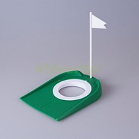 Free Shipping New Golf Putting Green Regulation Cup Hole Flag Indoor Practice Training Aids