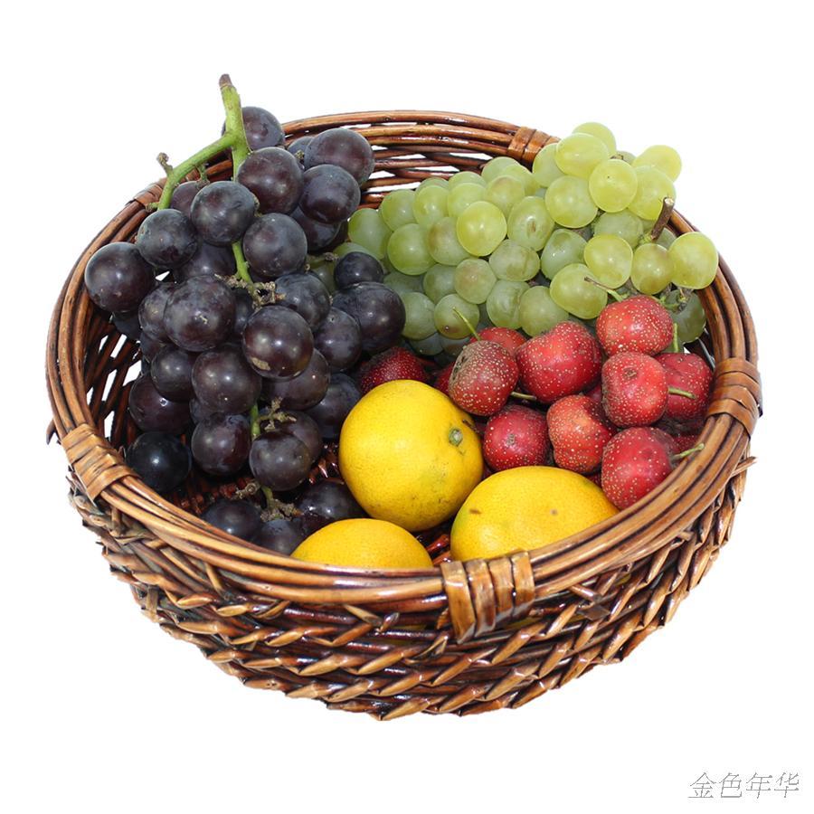 free shipping! Willow tray plate fruit sundries storage basket display basket(China (Mainland))