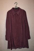 Small polka dot velvet fabric one-piece dress