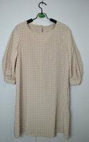 Lf small polka dot puff sleeve one-piece dress all-match brief