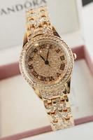 promotion Roman numerals gold watch women's watch elegant ladies watch rhinestone table fashion table free shipping