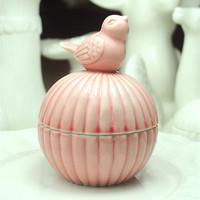 GAGA ! Free shipping pink bird  ceramics  ,jewel case wedding party box  , sweet  box , 50 pcs/lot     , sweetsummer1-15