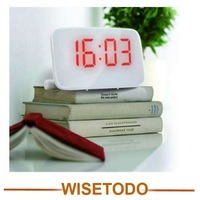 Alarm clock message board voice-activated led mute clock electronic big screen hindchnnel fashion gecko