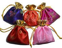 100pcs Silk bags 10*12cm jewelry bags jin bags beam port bag packing gift bag sachet bags