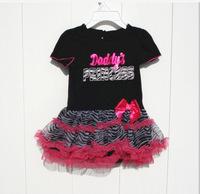 Fashion Baby Girl's Tutu Dresses Baby Girl  Bow Dresses Kids Clothing dot TUTU dress Zebra stripes GQ-347