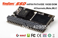 Free shipping 44PIN PATA/IDE 16GB DOM/Disk On Module of Male Horizontal+Socket MLC 4-Channels