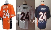 Free Shipping American #24 Champ Bailey Jerseys,Men's Elite/game Football Jersey,Number And Name Are Sewn On