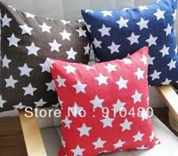 100% cotton cushion cover ikea cushion pillow star cushion cover blue 45*45cm free shipping