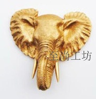 100% Genuine brand Resin elephant wall mural modern home decoration fashion animal head wall