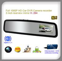 3 inch 1080P FULL  HD Car Rear View Mirror Camera DVR Blackbox Loop Recording