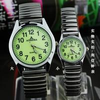 free shipping Digital meter the elderly watch elastic strap quartz watch luminous watches