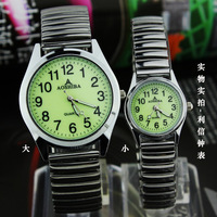 free shipping Digital meter the elderly watch elastic strap quartz watch luminous watches