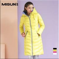 winter slim medium-long thickening down outerwear coat female