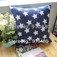 100% cotton cushion cover ikea cushion air cushion star cushion cover blue 40*40cm free shipping