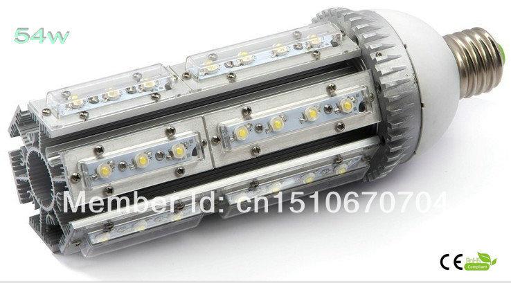 6pcs/lot ,54w,warm /cold white led street light E27,E40 base ,rotation 360 degress,AC85-265V Input voltage,IP54 ,CE Rohs(China (Mainland))