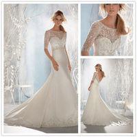 White/ivory Lace Wedding Dress Custom Size