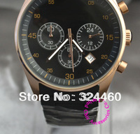luxury high good quality man unisex black rubber rose gold stainless steel chronograph japan Quartz Wristwatch wrist watch hour