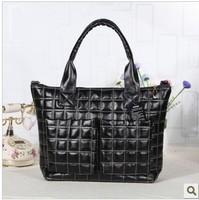 Women's handbag 2014 women's winter handbag cotton-padded jacket down bag space bag one shoulder fashion handbag large bag