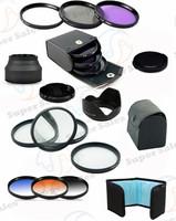 52MM UV CPL Filter Set  + Close up Macro  SLR Lens Filter Kit + Graduated Grey Blue for Nikon D3200 D3100 D5200 D5100 18-55mm