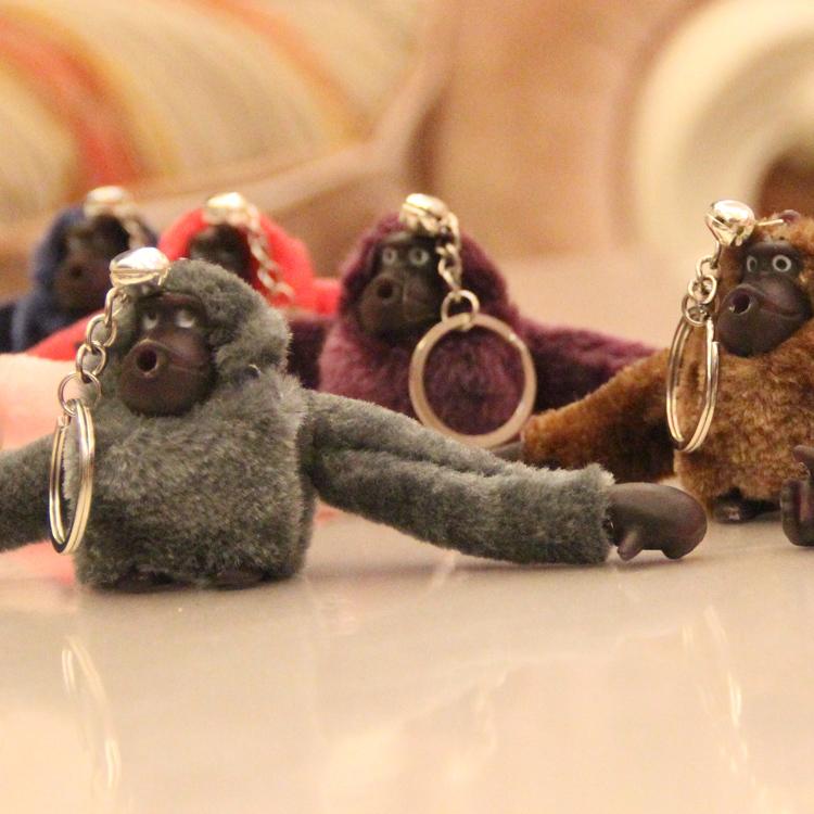WJ142-50 Fashion Lovely Soft Plush Stuffed Animal Pet Toy 7CM Cartoon Orangutan Keychain Style Supernova Sale Small Pendant Gift(China (Mainland))