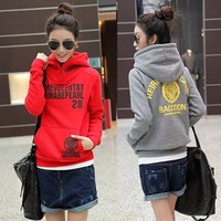 2013 winter new arrival sweatshirt female autumn and winter with a hood pullover sweatshirt female autumn and winter plus velvet