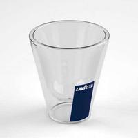 Lavazza Double Walled Macchiato Glass 4.5oz (125ml),set of 2 Double wall glass Espresso coffee tea cup, FREE SHIPPING