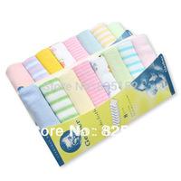 Free Shipping 8PCS New Soft Baby Boy Girl Kids Children Newborn Infant Toddlers Bath Towels Washcloth Wipe Clean Face Nursing