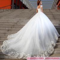 Cii Spring Korean trailing bridal diamond lace wedding dress Princess Bra strapless wedding gown