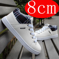 Winter cotton-padded shoes breathable white skateboarding shoes men's elevator shoes 7cm-8 thermal men's