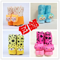 Big high winter baby boots baby thermal gaotong thickening cotton-padded shoes floor shoes child soft outsole booties