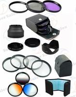 67 MM Close up Macro  SLR Lens Filter Kit + 67mm UV + CPL + FLD Filter Kit for canon nikon sony + Lens Hood + Lens Cap