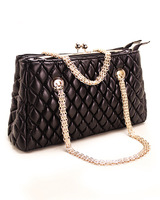 Plaid chain portable one shoulder women's bags 2014 clip package