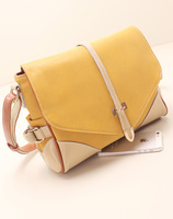 Women's shoulder bag female bags the trend of fashion preppy style genuine leather patchwork women's casual handbag