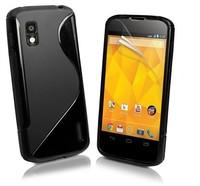 For LG Nexus 4 Case ,Nexus 4 New Case ,2014 New Mobile Phone Bag, S Line Soft TPU Gel Skin Cover Case for For LG Nexus 4,1 pcs