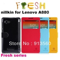Free shipping 1pcs original nillkin case for Lenovo A880 leather case Fresh fruit series + retail box