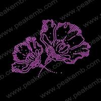 Free Shipping Hot Sale Beautiful Flower Rhinestone Designs Crystal Rhinestone Transfers Strass Hotfix  50Pcs/Lot