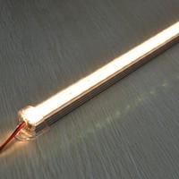 Free shipping 100cm 5630 smd 72leds 18w 1800lm warm white led rigid light with plastic cover 50pcs rigid led strip