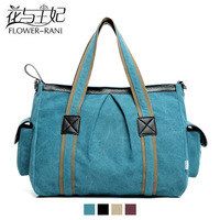 Poynton hot-selling women handbag canvas leather messenger bags 4 colors f002