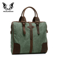 FASHION men shoulder bag canvas leather messenger bags M013