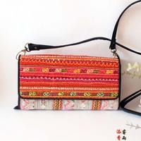 National trend women's handbag,Wavy texture embroidery, bag, wallet generic