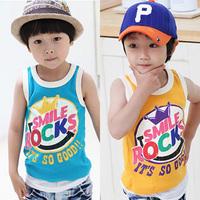 2014 summer children clothing baby child waistcoat fashion T-shirt sleeveless vest free shipping