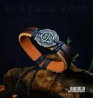 Carving genuine leather bracelet maya accessories yiwu